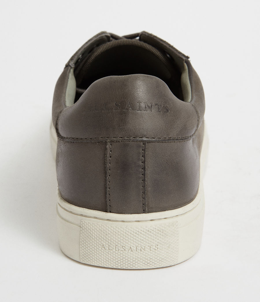 Men's Stow Low Top Leather Trainers (charcoal_grey) - Image 2