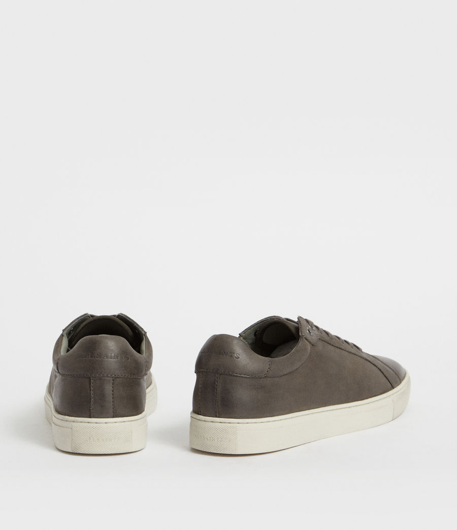 Men's Stow Low Top Leather Trainers (charcoal_grey) - Image 5