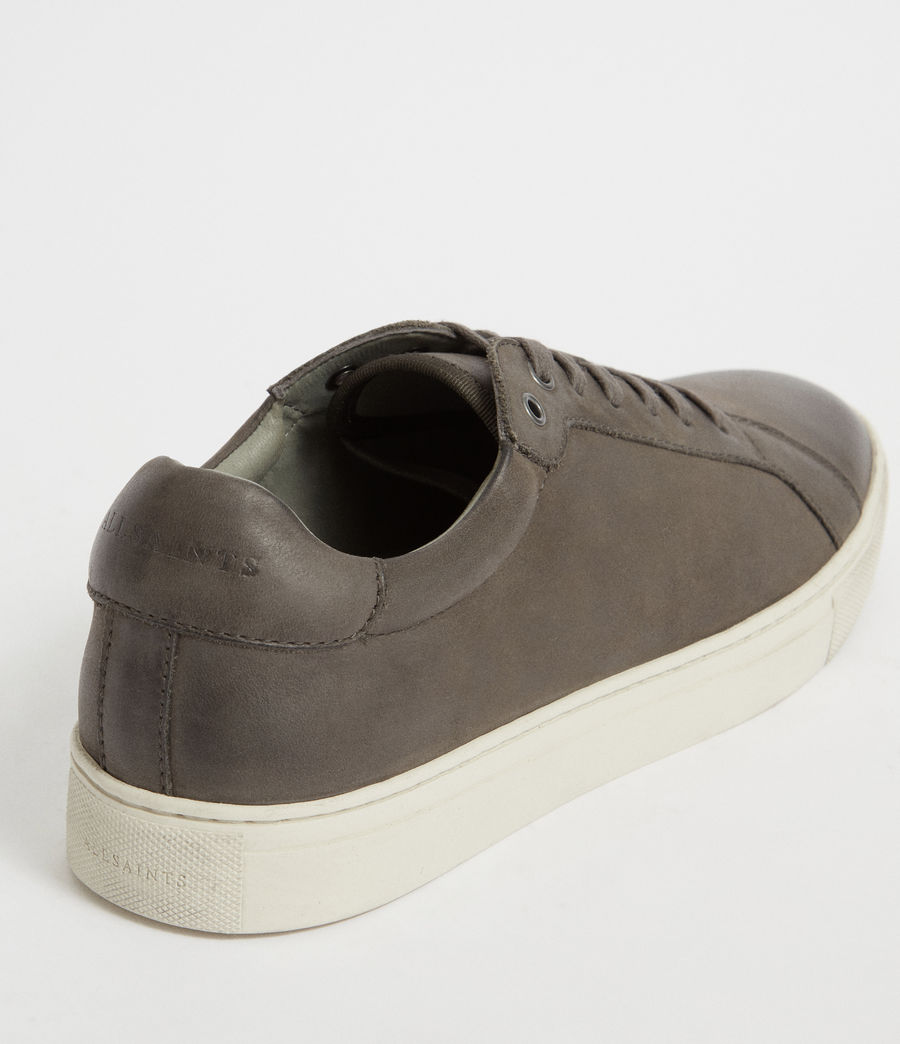 Men's Stow Low Top Leather Trainers (charcoal_grey) - Image 7