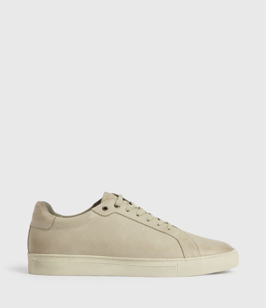 Mens Stow Low Top Leather Sneakers (chalk) - Image 1