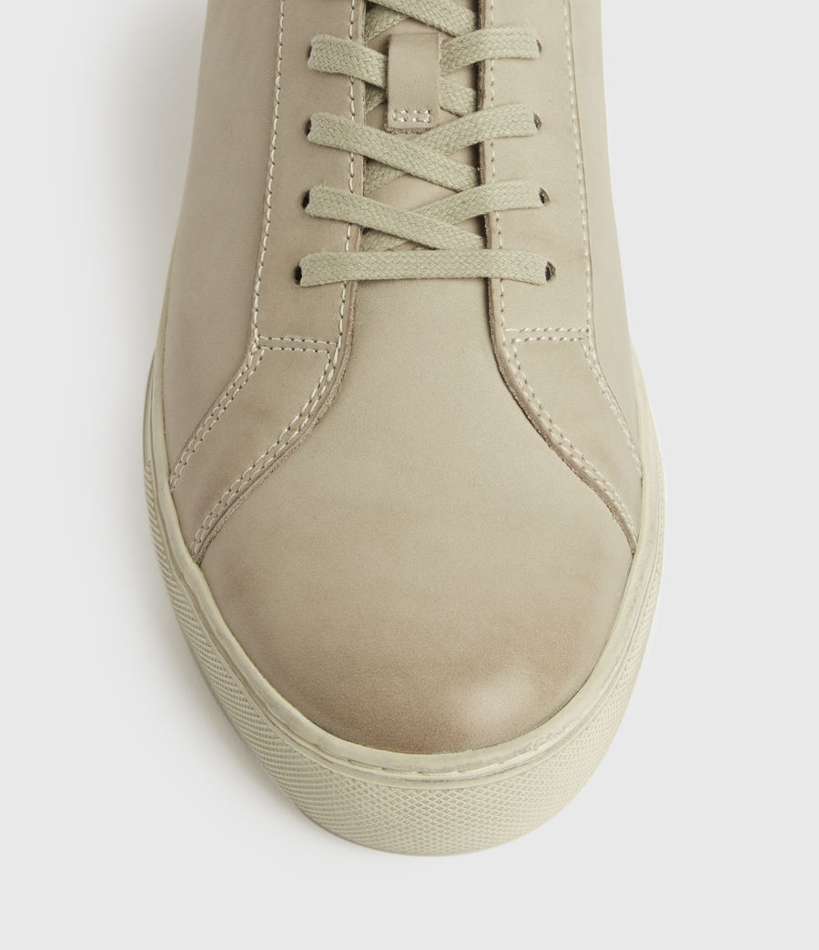 Mens Stow Low Top Leather Sneakers (chalk) - Image 2
