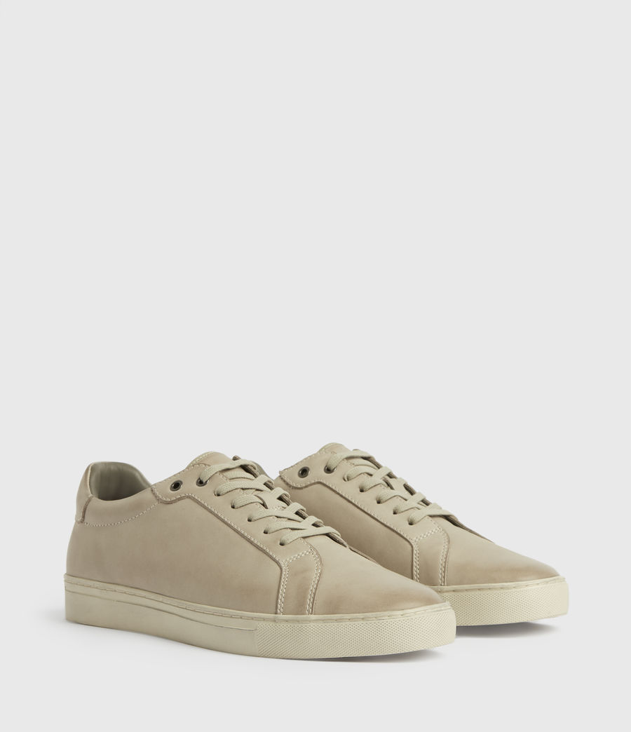 Mens Stow Low Top Leather Sneakers (chalk) - Image 3
