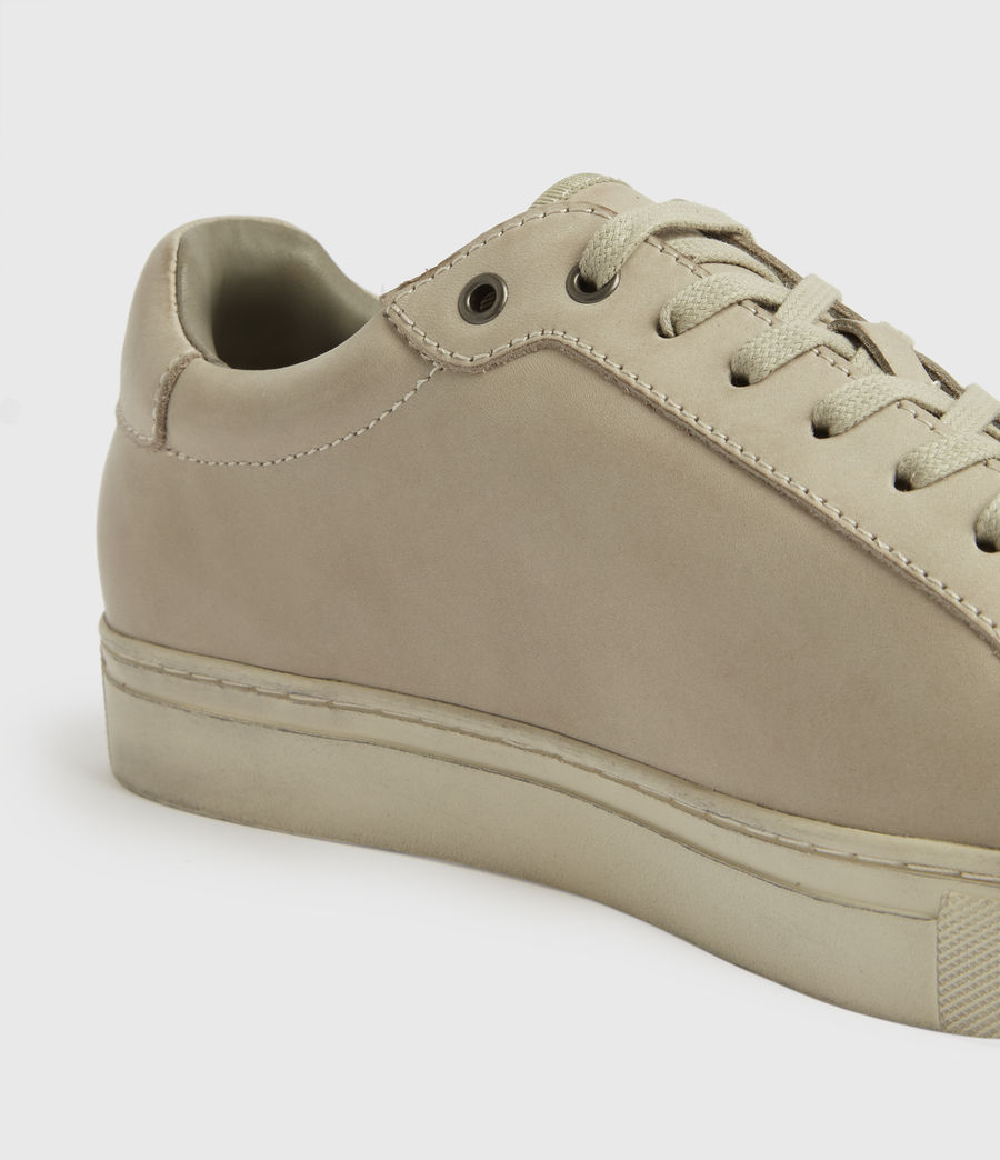 Mens Stow Low Top Leather Sneakers (chalk) - Image 4