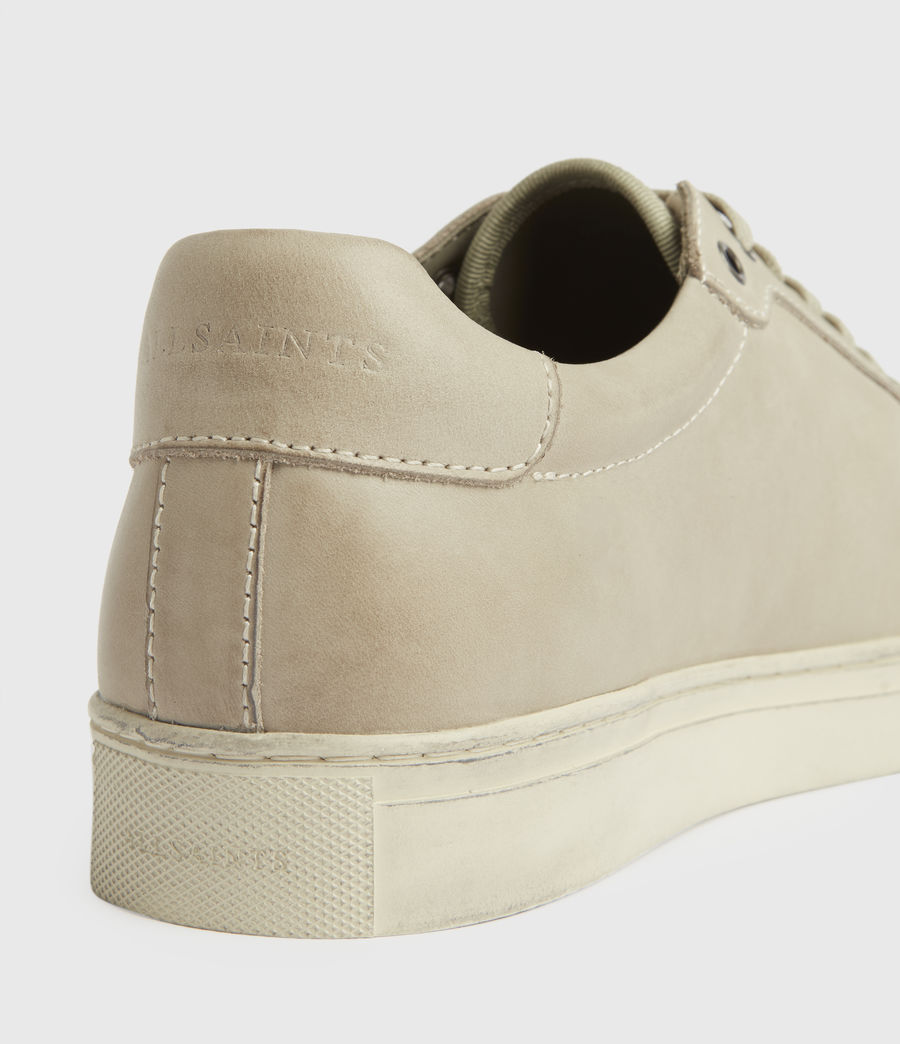 Mens Stow Low Top Leather Sneakers (chalk) - Image 5