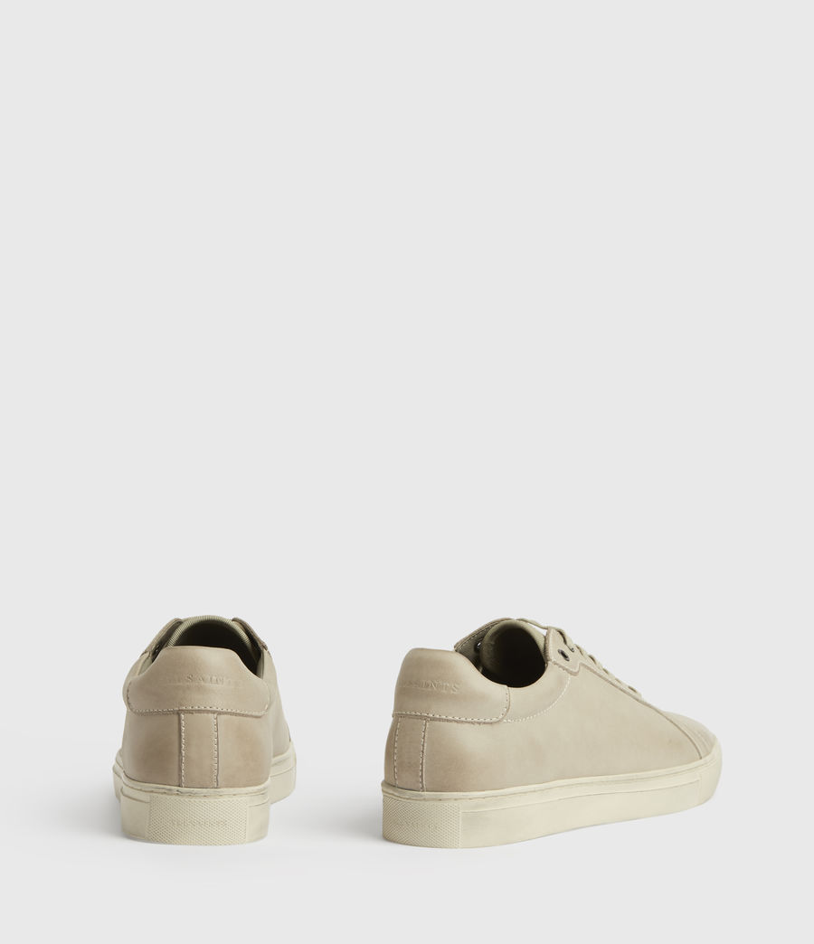 Mens Stow Low Top Leather Sneakers (chalk) - Image 6