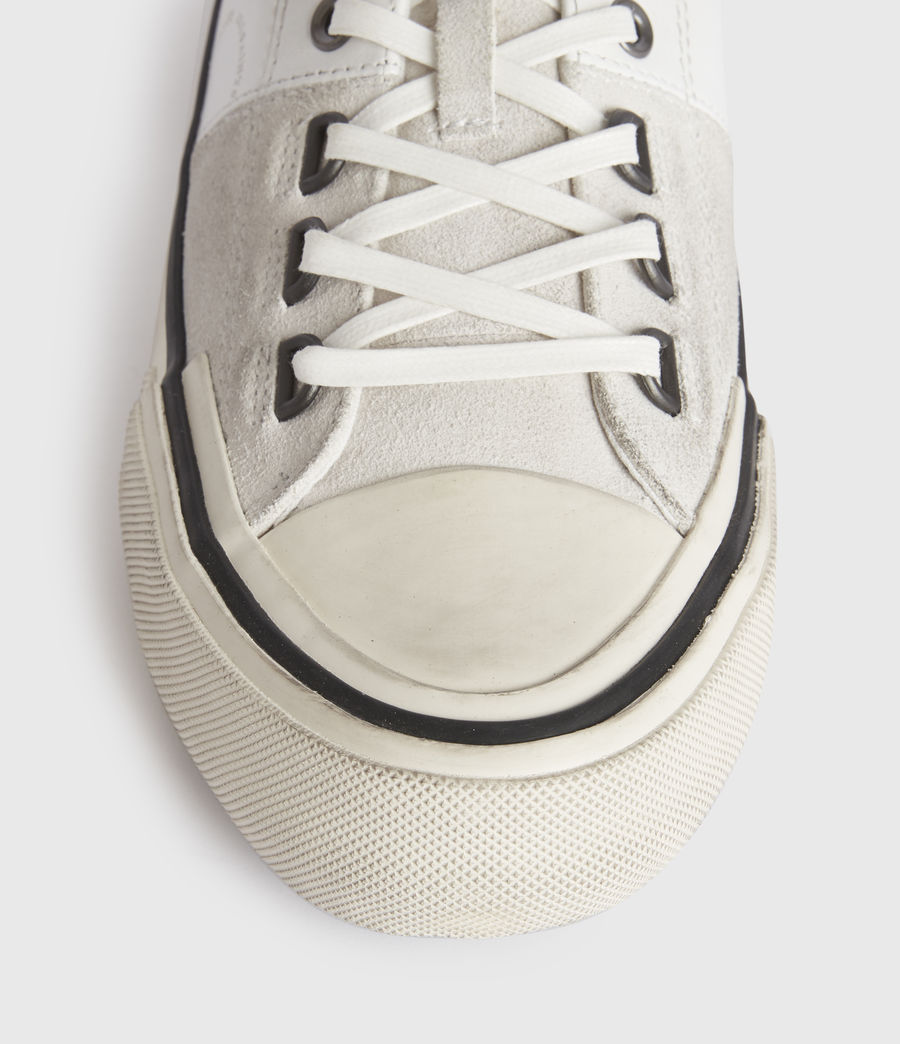 Mens Jago Low Top Leather Sneakers (off_white) - Image 1