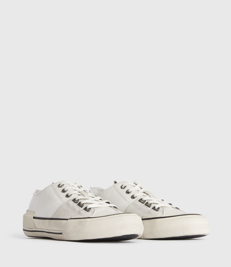 Mens Jago Low Top Leather Sneakers (off_white) - Image 2