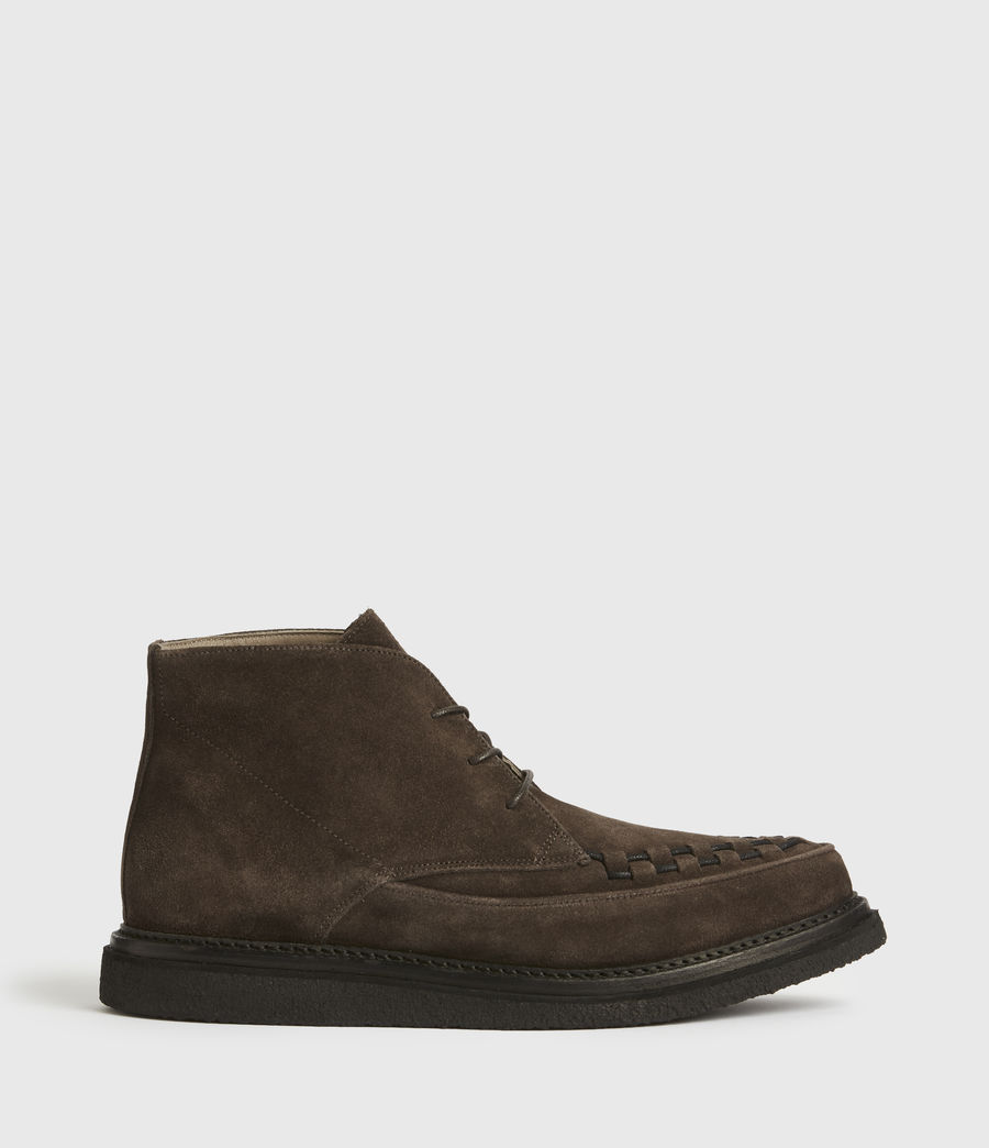 Mens Leon Suede Boots (charcoal_grey) - Image 1
