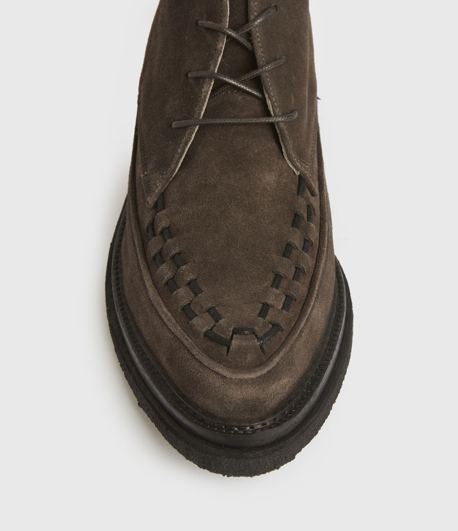 Mens Leon Suede Boots (charcoal_grey) - Image 2