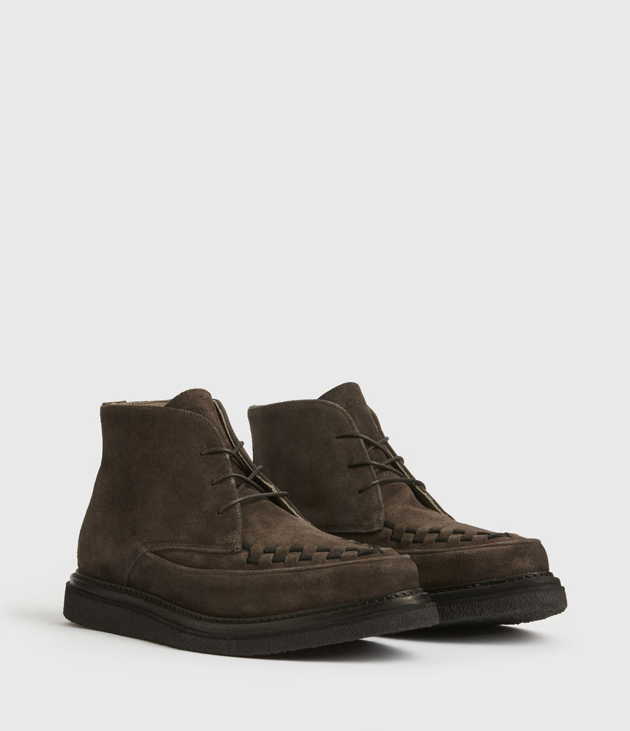 Mens Leon Suede Boots (charcoal_grey) - Image 3