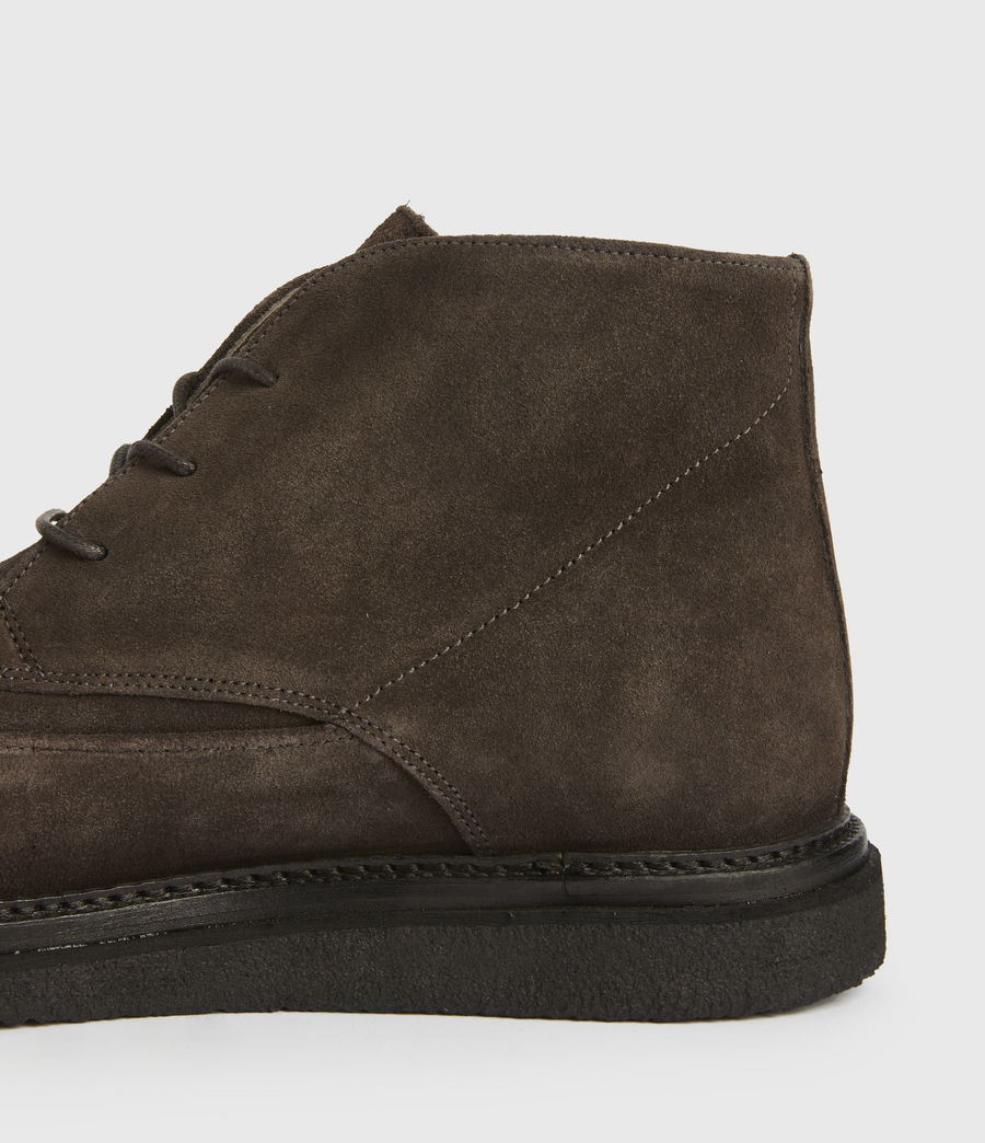 Mens Leon Suede Boots (charcoal_grey) - Image 4