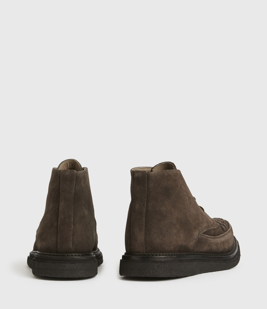 Mens Leon Suede Boots (charcoal_grey) - Image 5