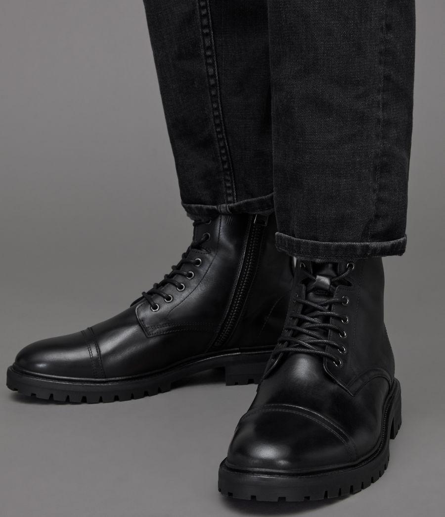 Men's Piero Leather Boots (black) - Image 2