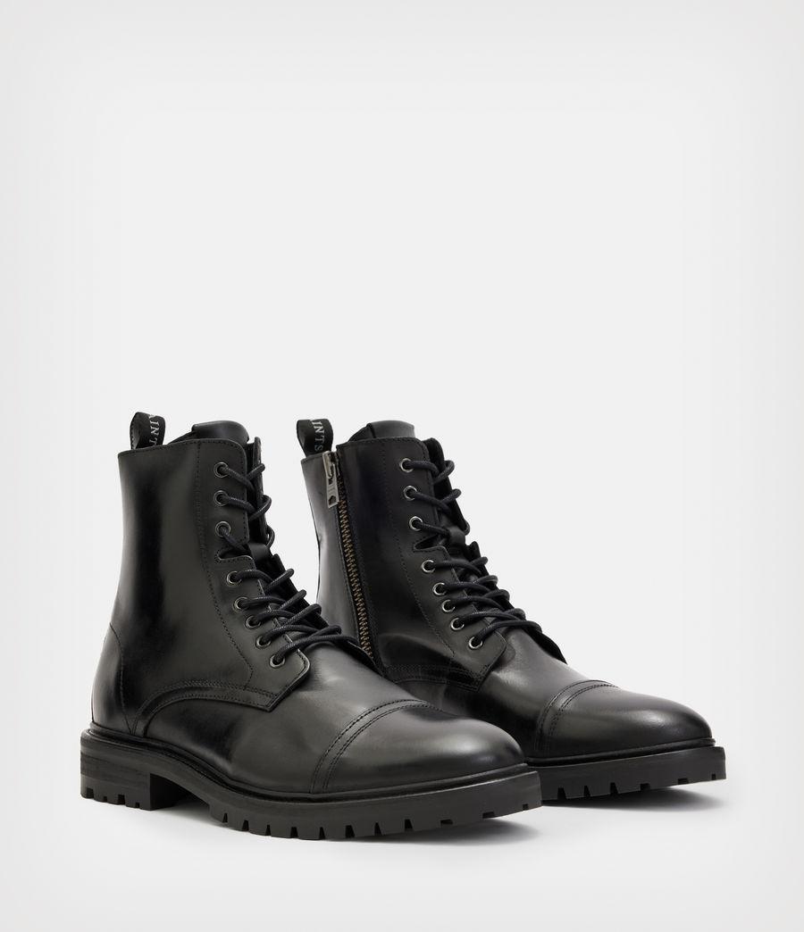 Men's Piero Leather Boots (black) - Image 4