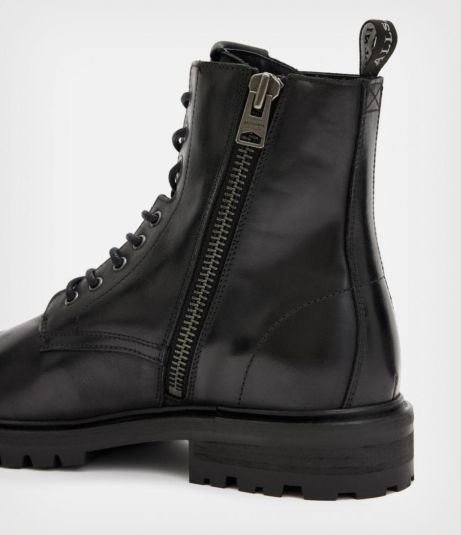 Men's Piero Leather Boots (black) - Image 5