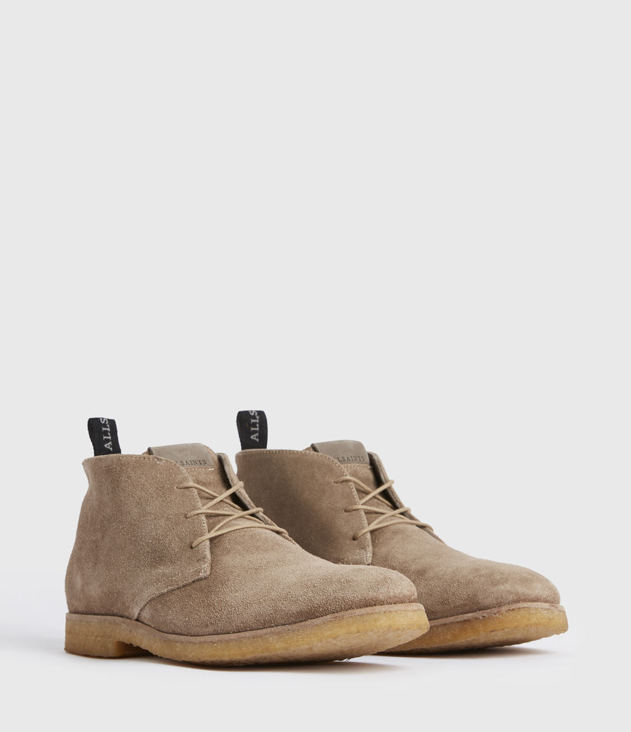 Men's Luke Suede Boots (taupe) - Image 3