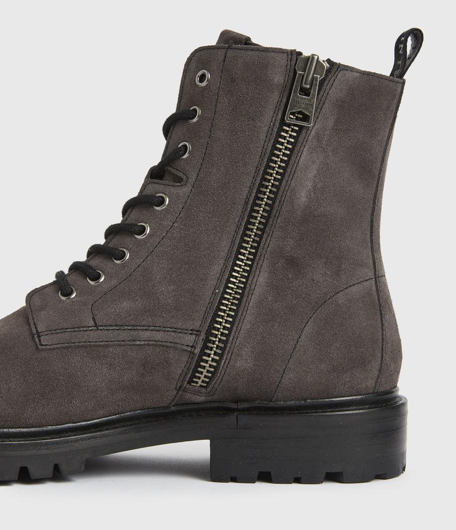Men's Piero Suede Boots (charcoal_grey) - Image 2