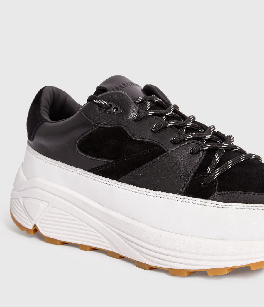 Uomo Sneakers Walker - In pelle con suola spessa (chalk_white_black) - Image 4