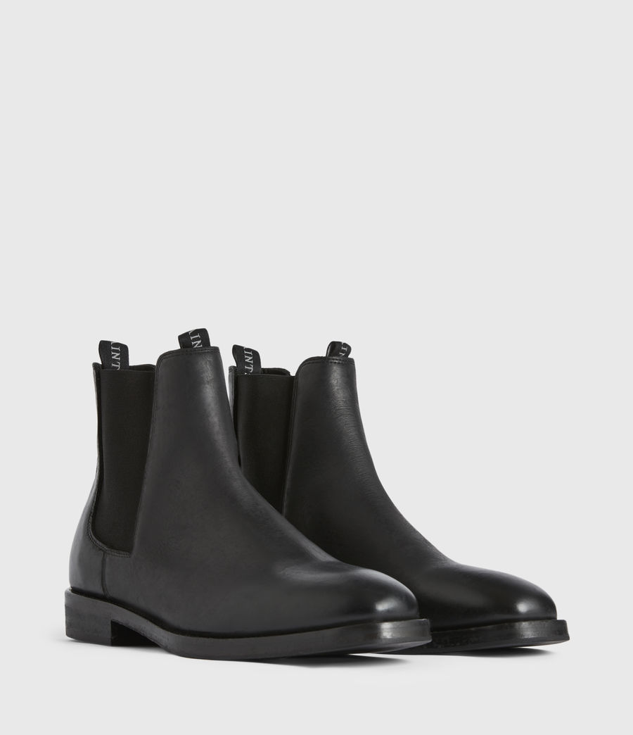 Mens Eli Leather Boots (black) - Image 3