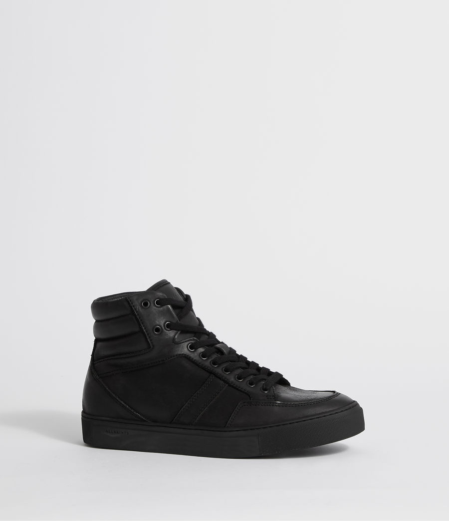 Hombres Zapatillas de Piel Tilt High Top (black) - Image 3