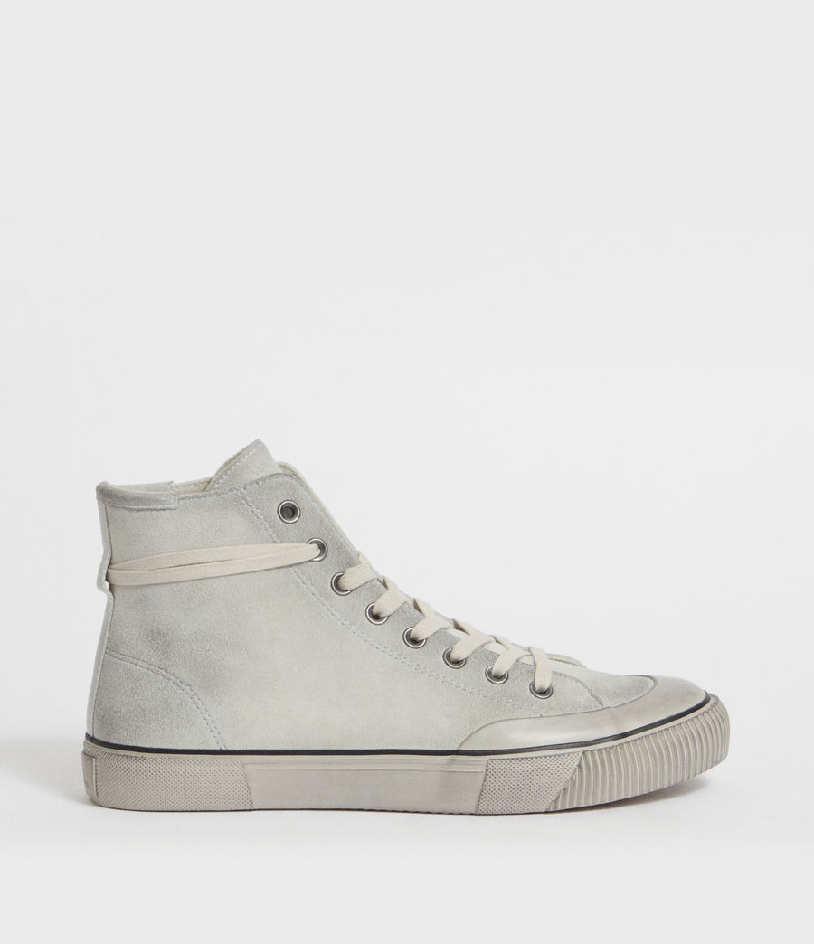 Mens Dumont Hightop Trainer (chalk) - Image 1