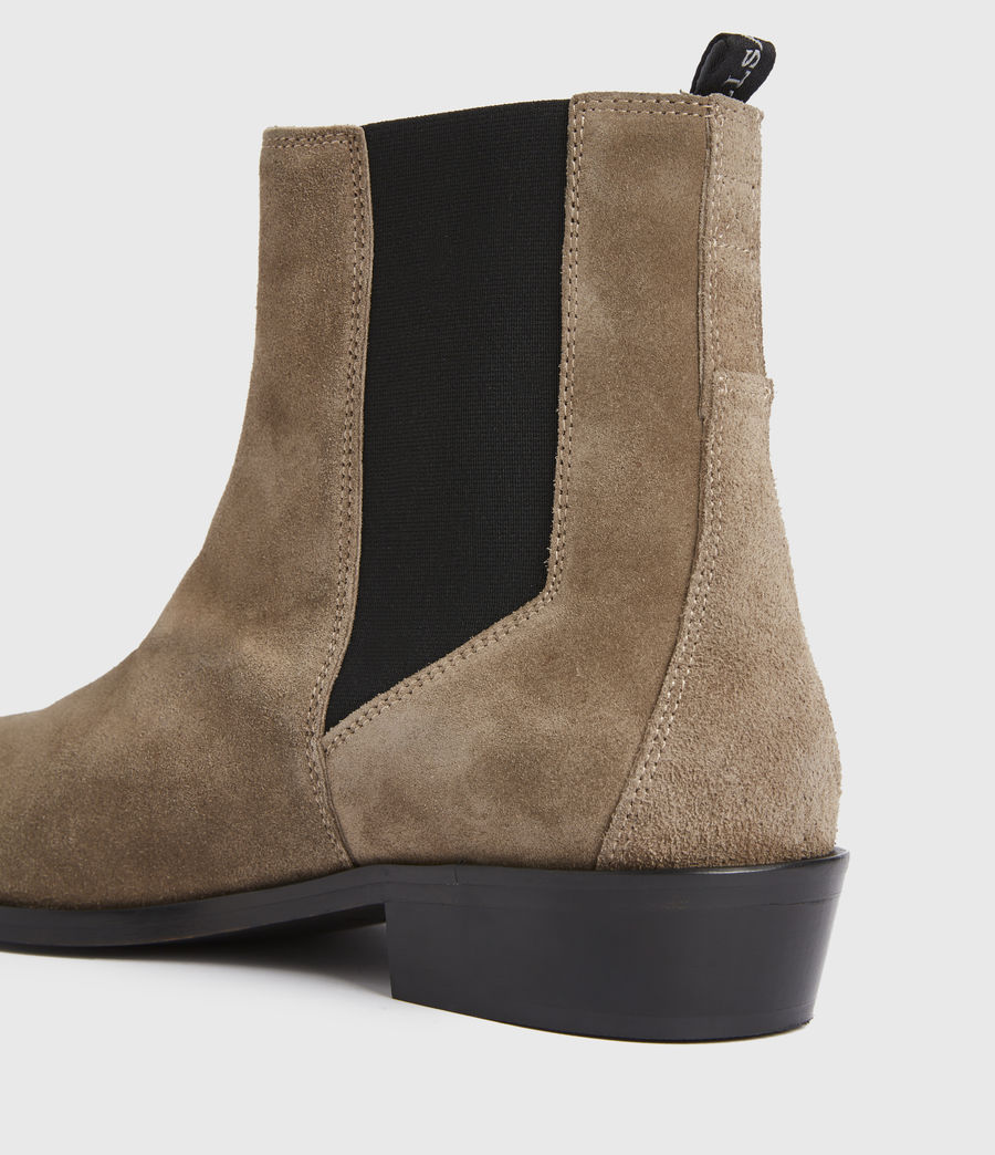 Mens Markus Suede Boots (taupe) - Image 4