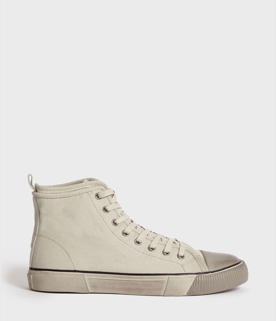 Men's Rigg Canvas Hightop Trainer (chalk) - Image 1
