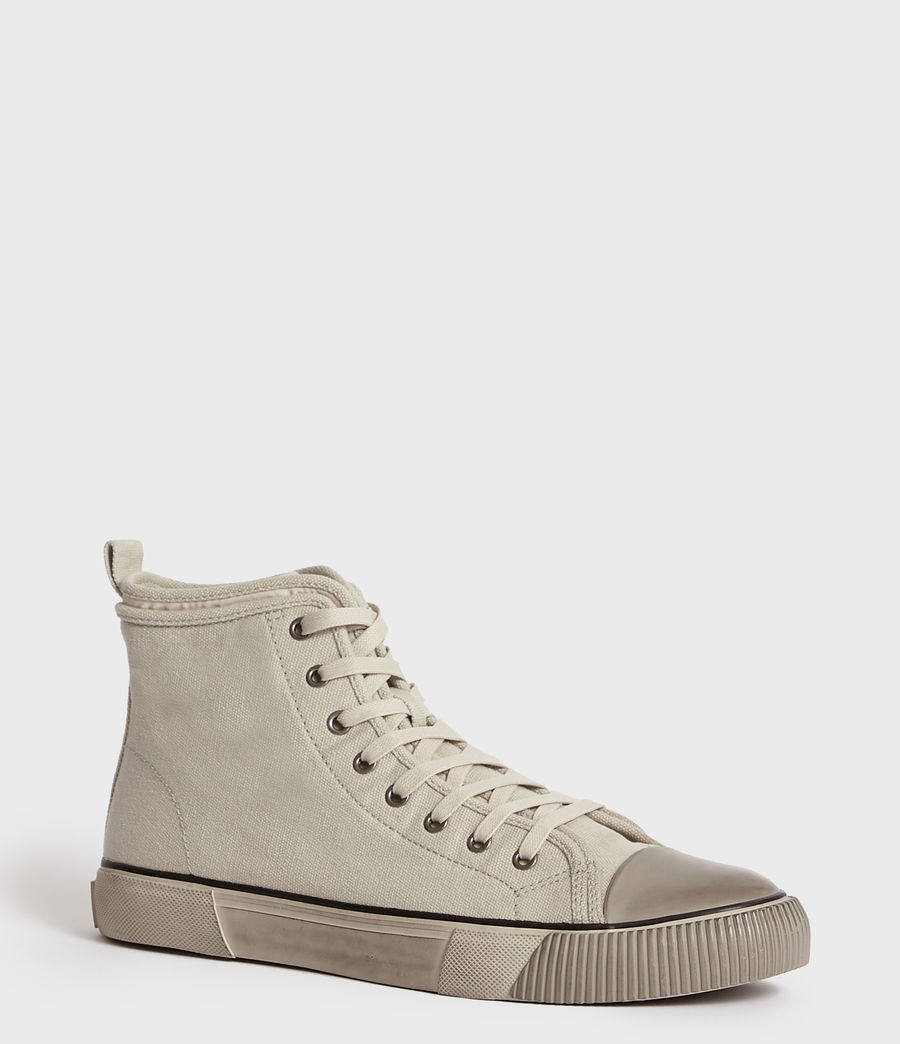 Men's Rigg Canvas Hightop Trainer (chalk) - Image 3