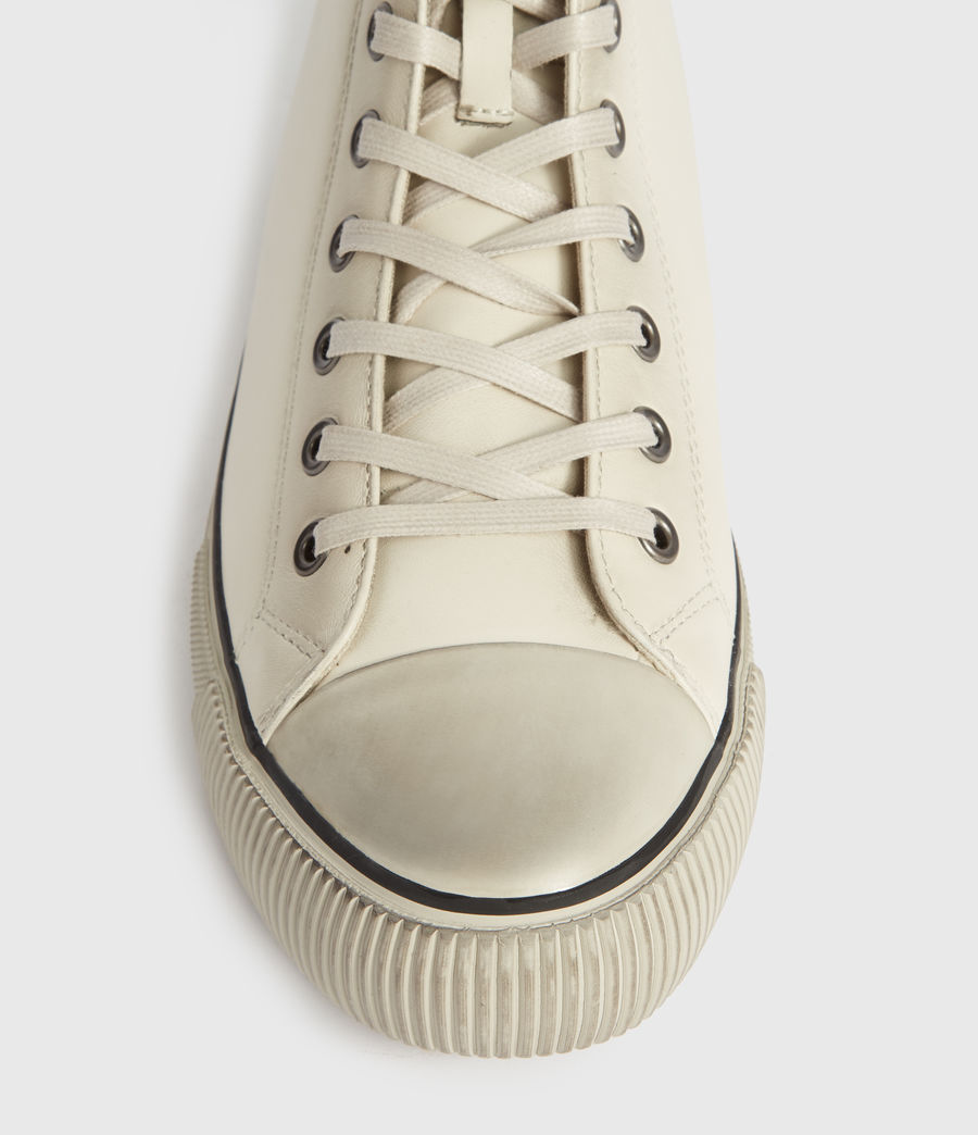 Mens Osun High Top Leather Sneakers (chalk_white) - Image 2