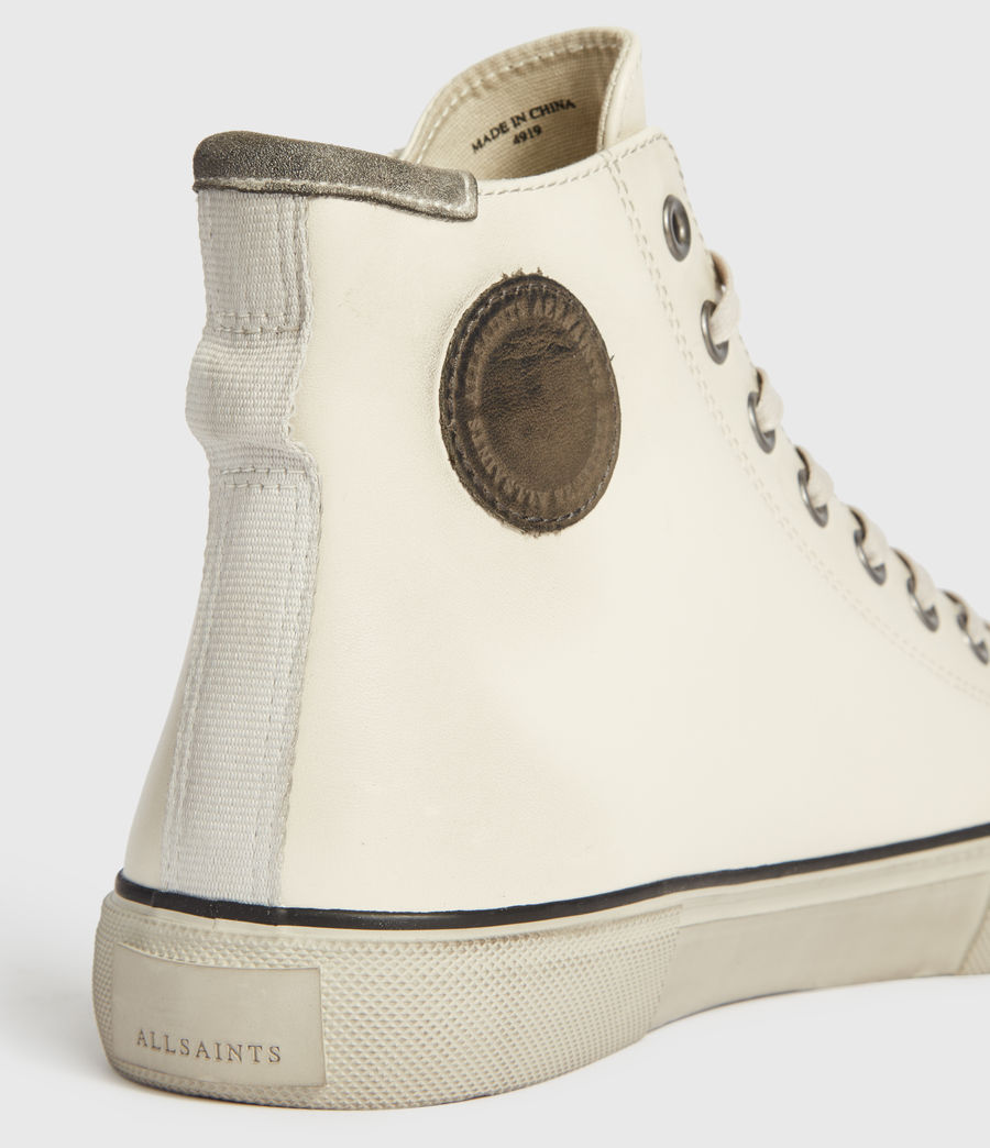 Mens Osun High Top Leather Sneakers (chalk_white) - Image 5