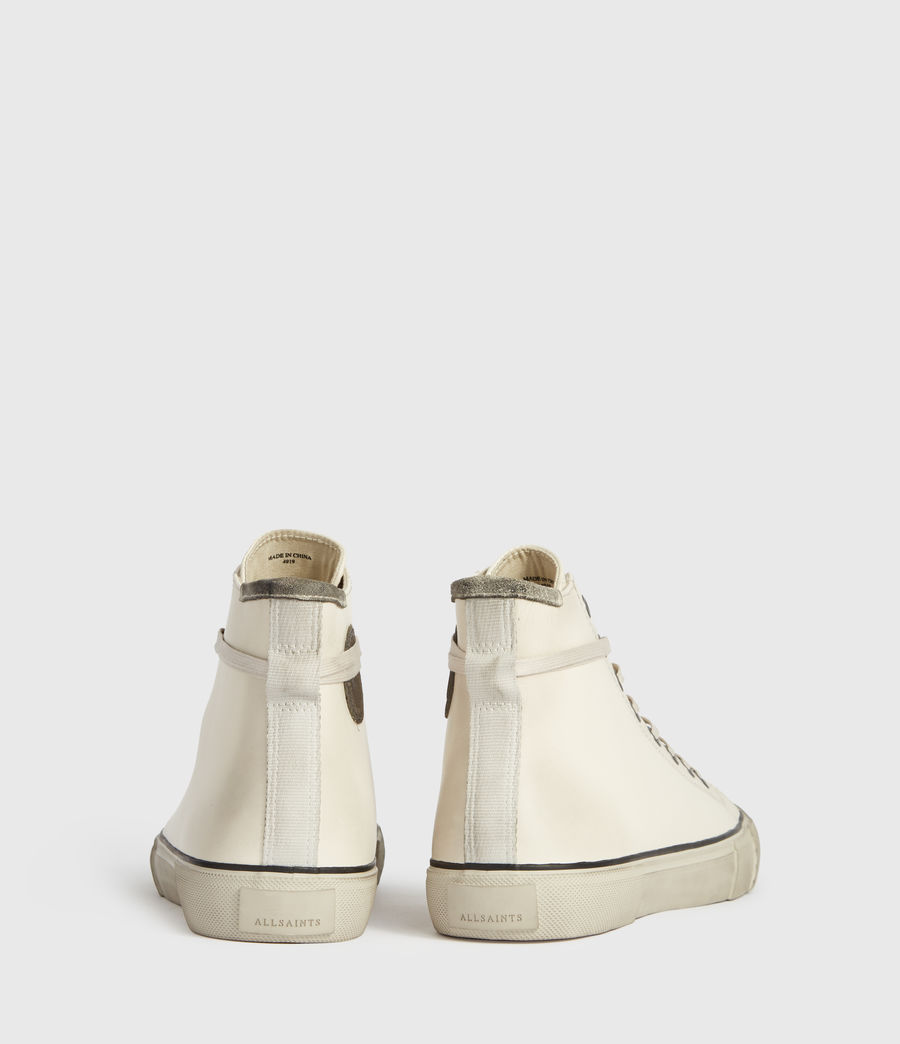 Mens Osun High Top Leather Sneakers (chalk_white) - Image 6