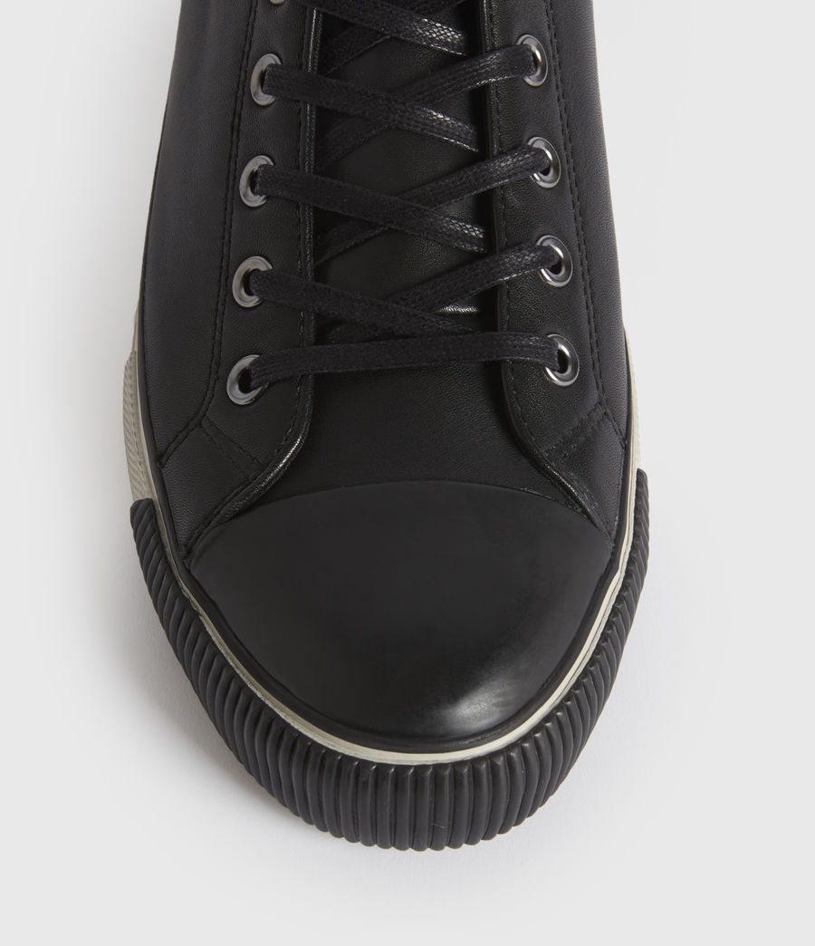 Men's Osun High Top Leather Trainers (black) - Image 3