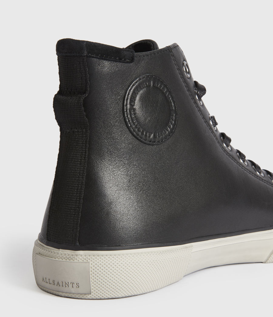 Men's Osun High Top Leather Trainers (black) - Image 4