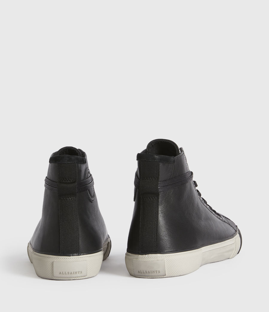 Men's Osun High Top Leather Trainers (black) - Image 5