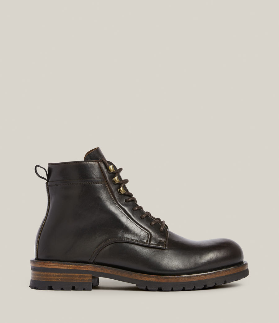 Men's Holster Leather Boots (bitter_chocolate) - Image 1