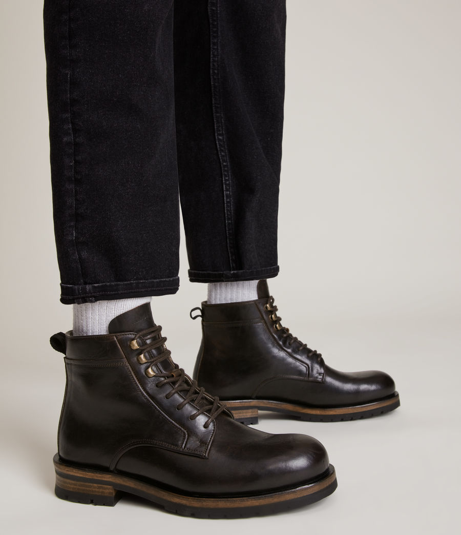 Men's Holster Leather Boots (bitter_chocolate) - Image 2
