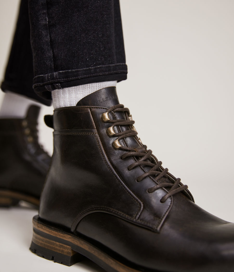 Men's Holster Leather Boots (bitter_chocolate) - Image 4