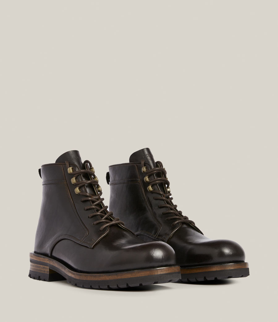 Men's Holster Leather Boots (bitter_chocolate) - Image 5