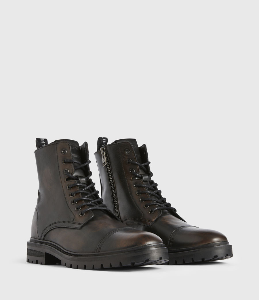 Men's Piero Leather Boots (dark_brown) - Image 3