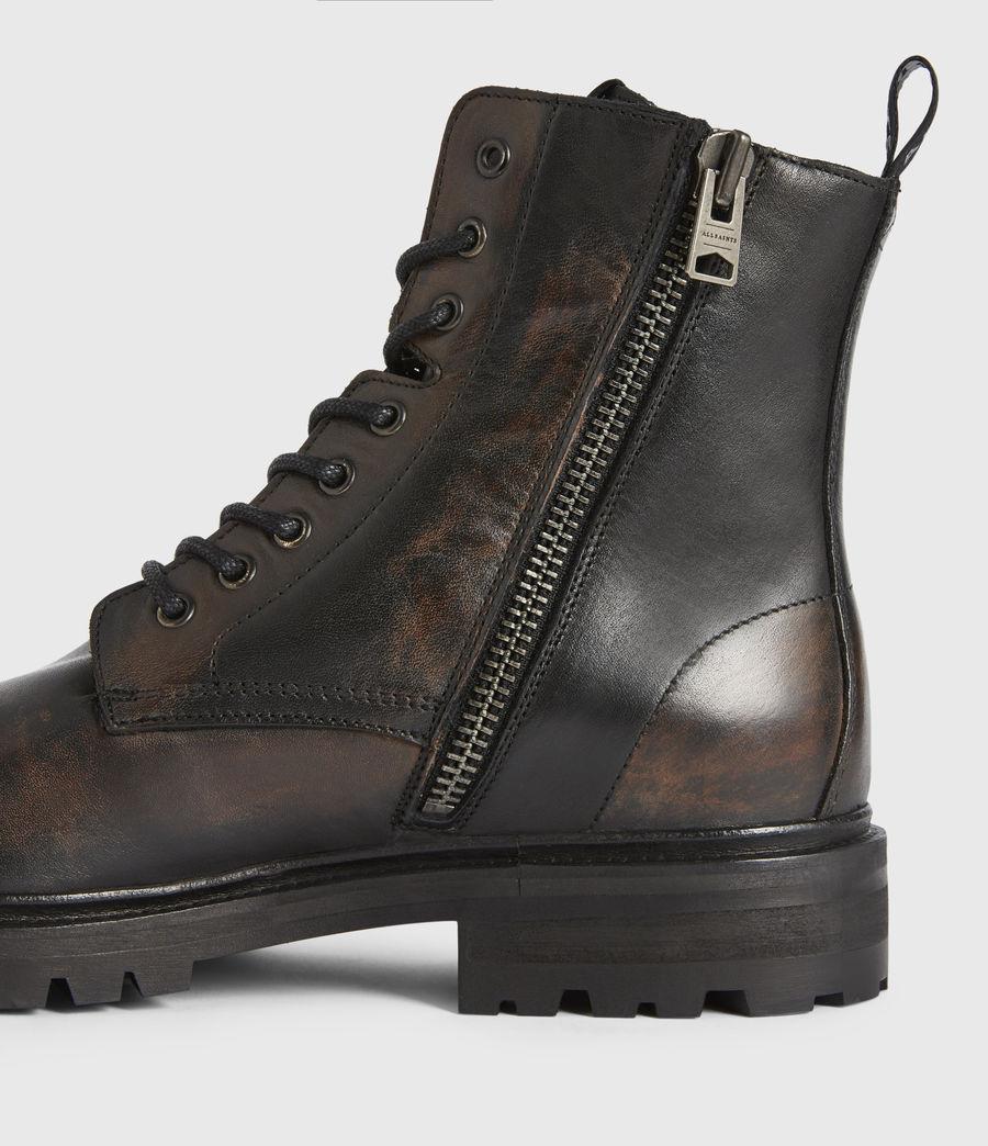 Men's Piero Leather Boots (dark_brown) - Image 4