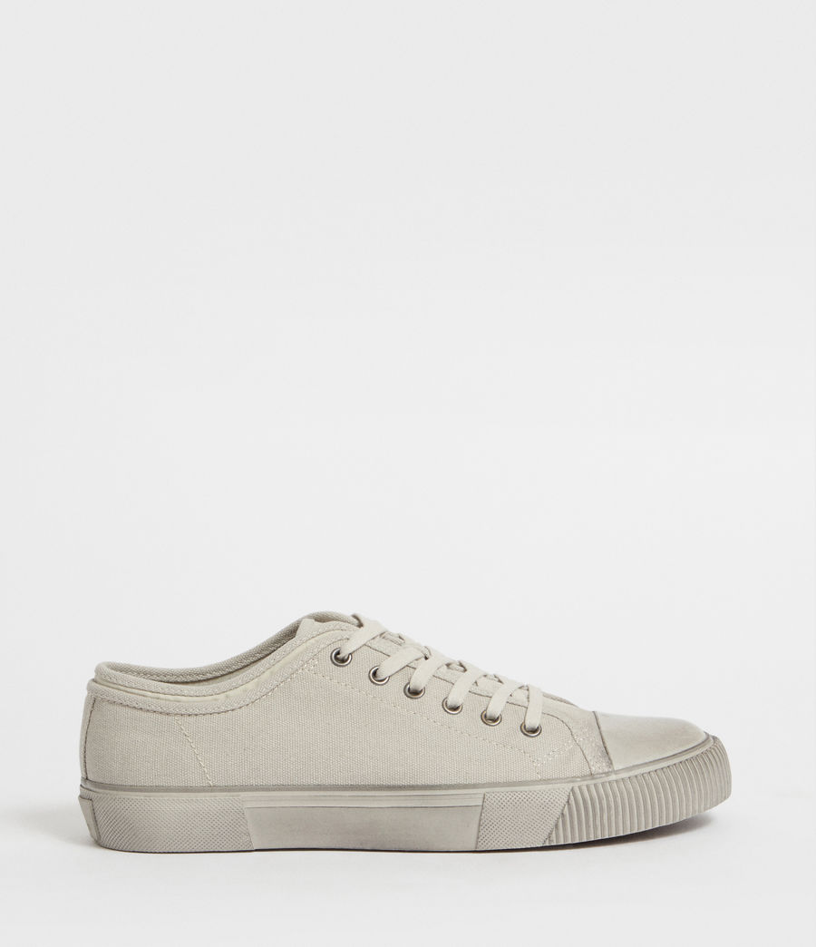 Men's Rigg Canvas Low Top Trainer (chalk) - Image 1