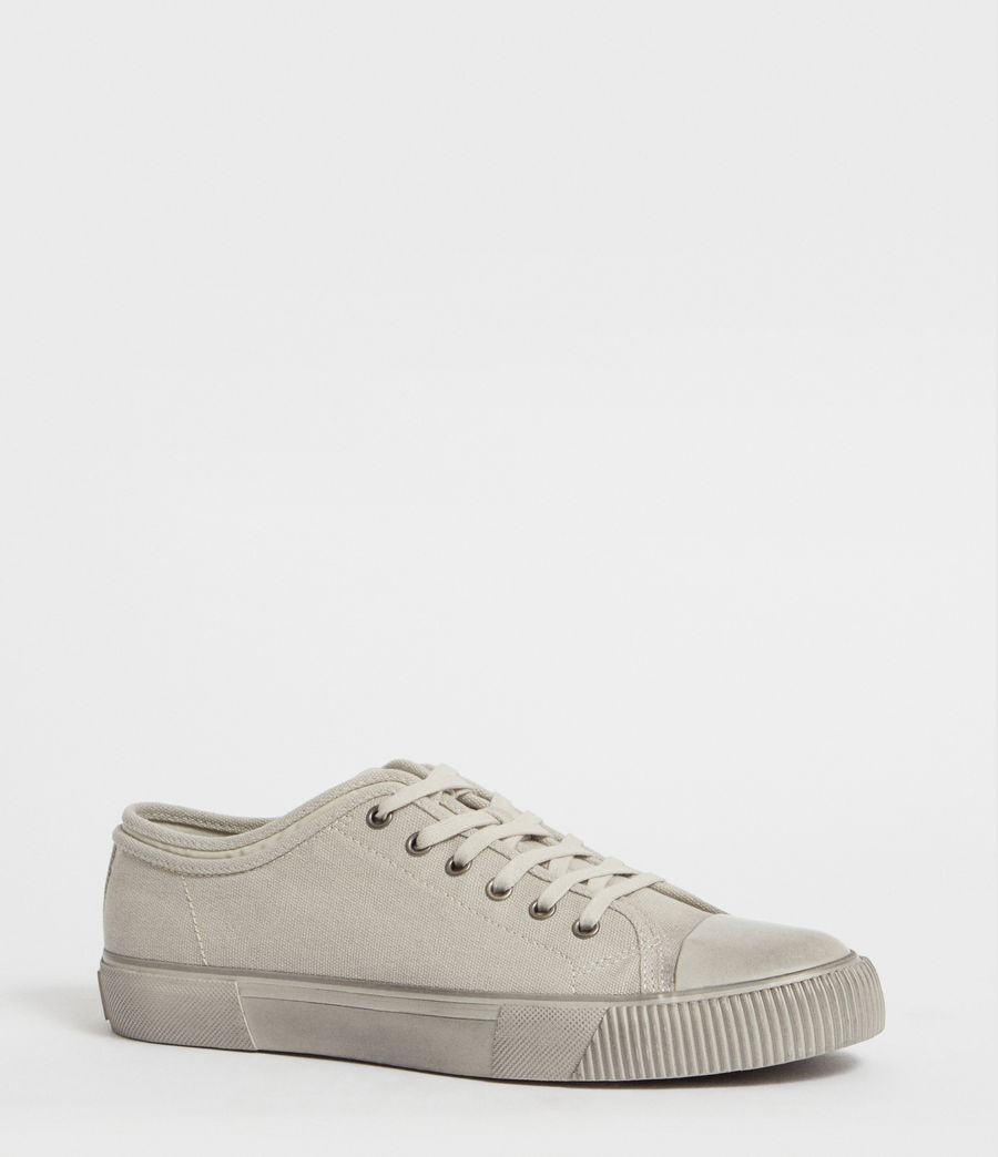 Men's Rigg Canvas Low Top Trainer (chalk) - Image 3