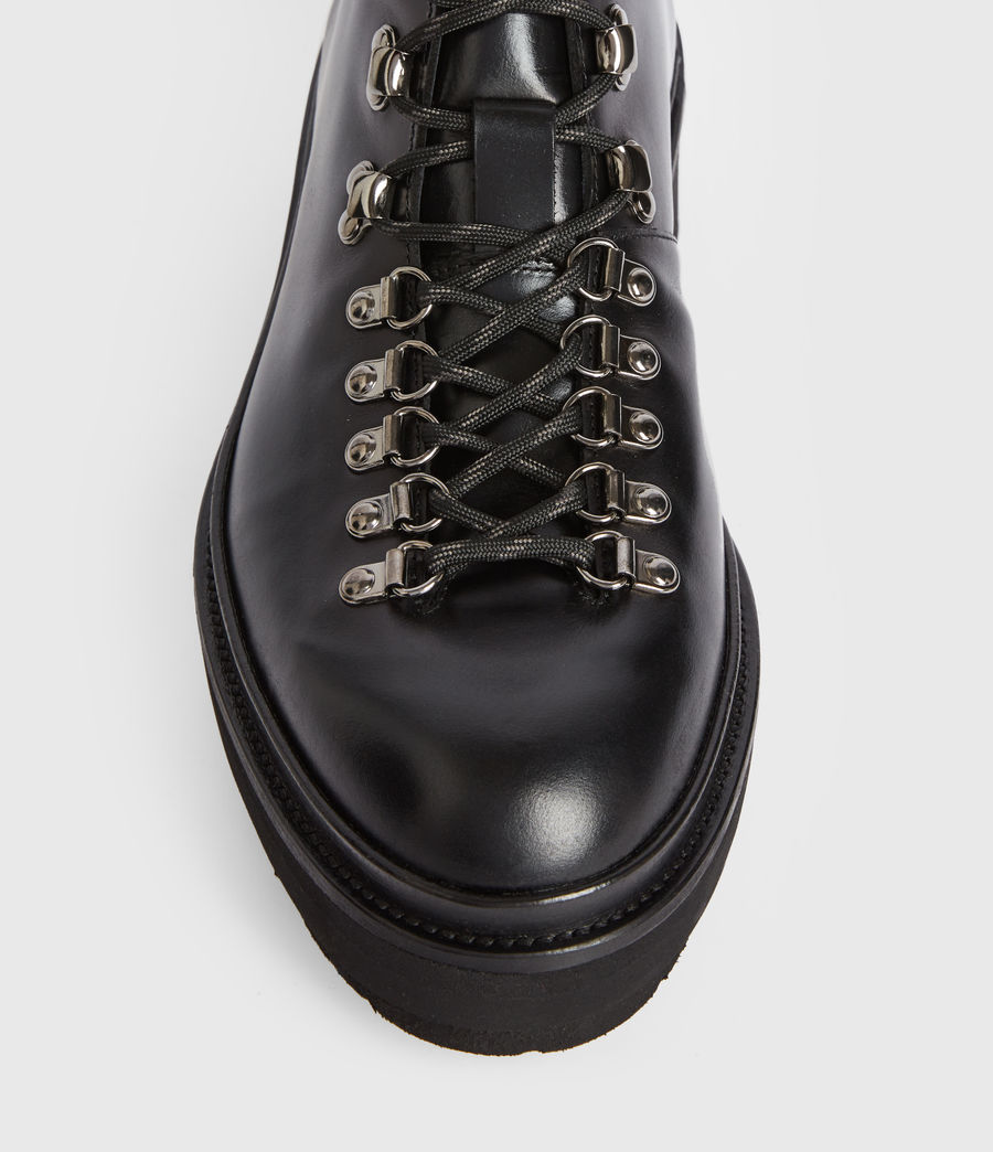 Men's Isaac Leather Boots (black) - Image 2