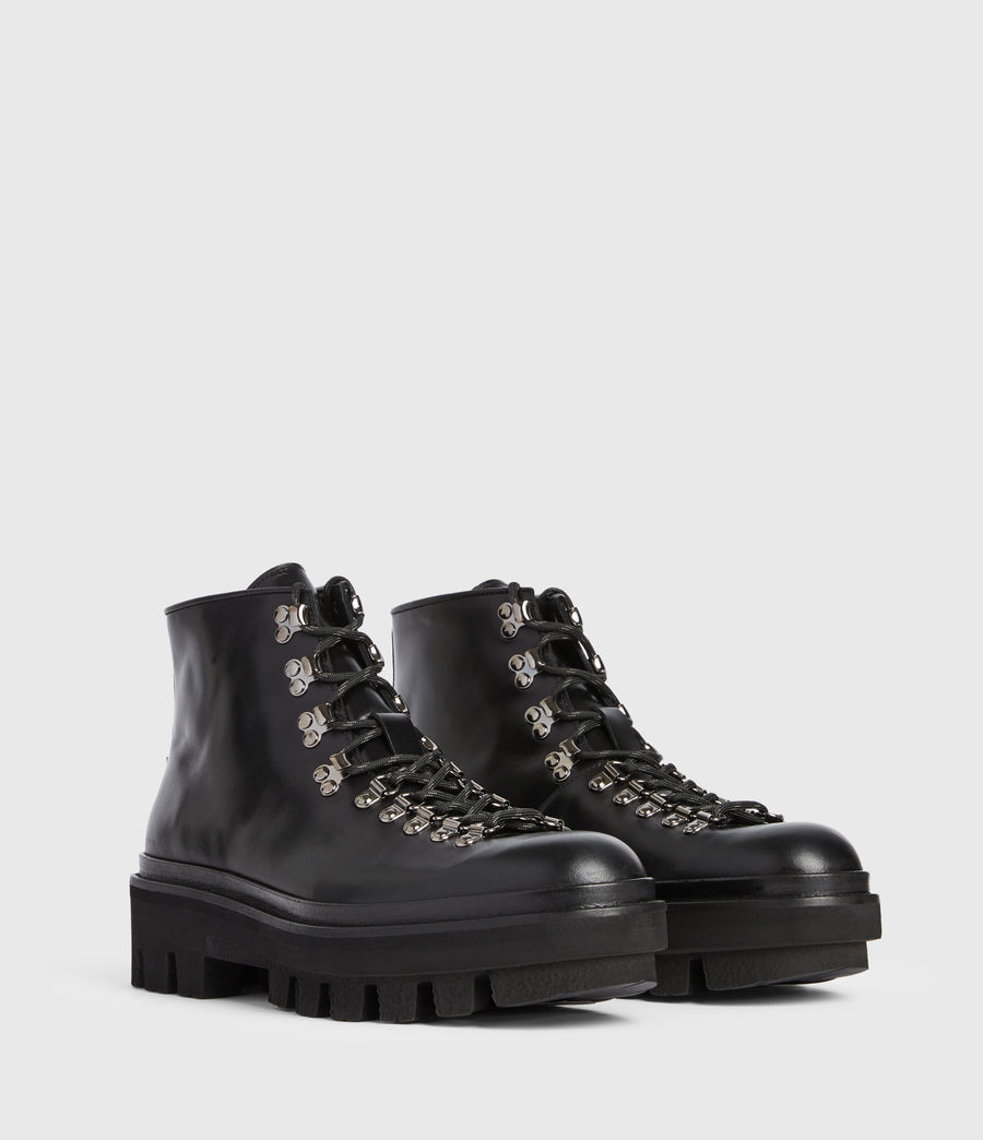 Men's Isaac Leather Boots (black) - Image 3