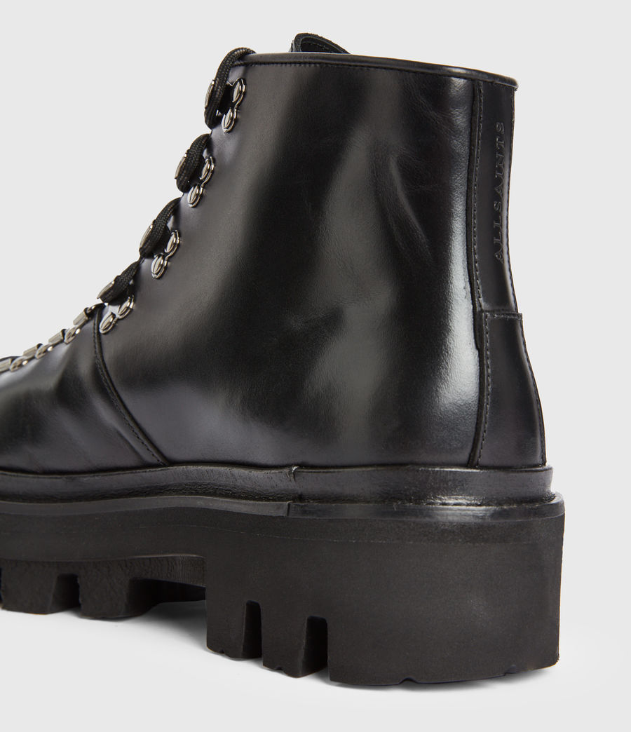 Men's Isaac Leather Boots (black) - Image 4