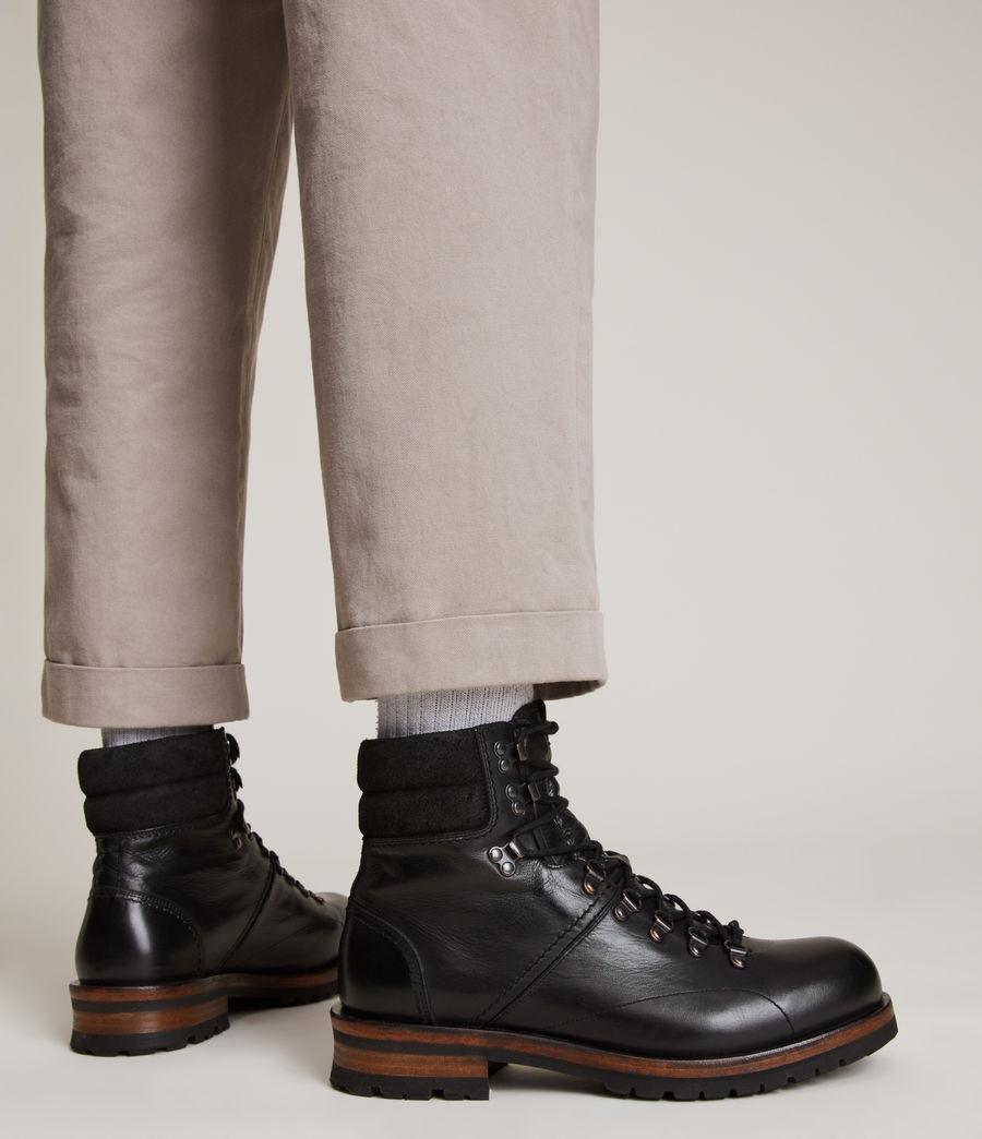 Men's Felton Leather Boots (black) - Image 2