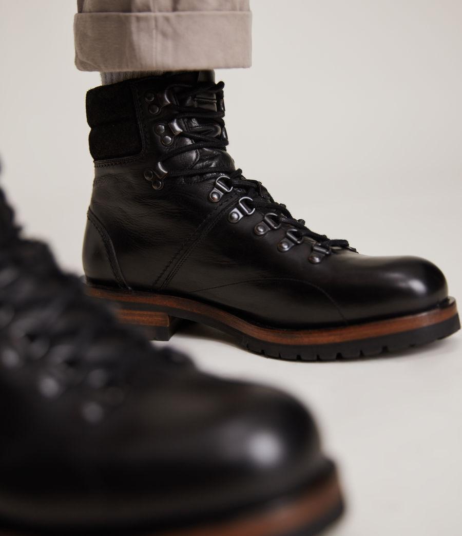 Men's Felton Leather Boots (black) - Image 4