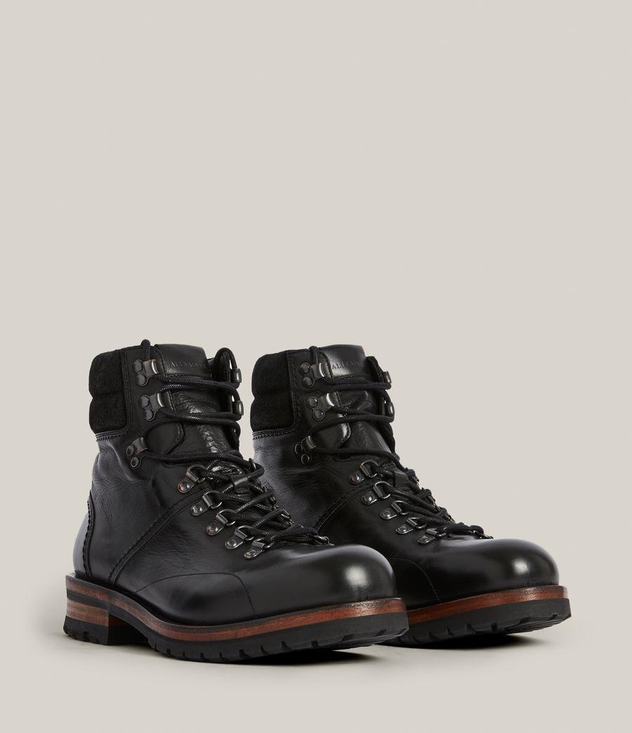 Men's Felton Leather Boots (black) - Image 5