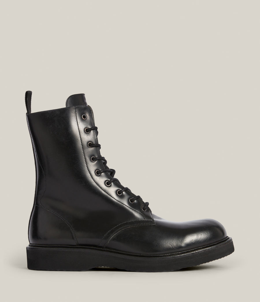 Hommes Shaw Leather Boots (black) - Image 1