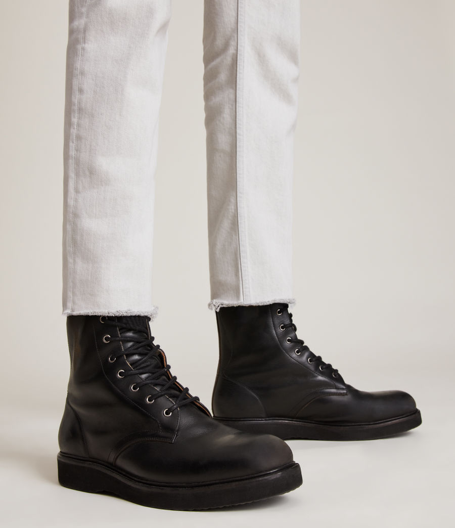 Hommes Shaw Leather Boots (black) - Image 2